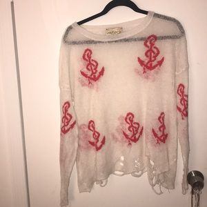 Wildfox White Label Anchor Sweater